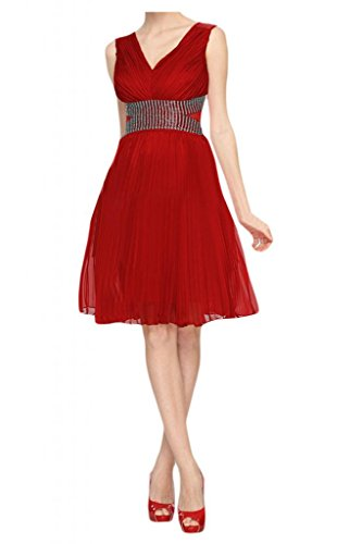 Sunvary ginocchio Romantic una linea Party Homecoming Gowns per bambini Red