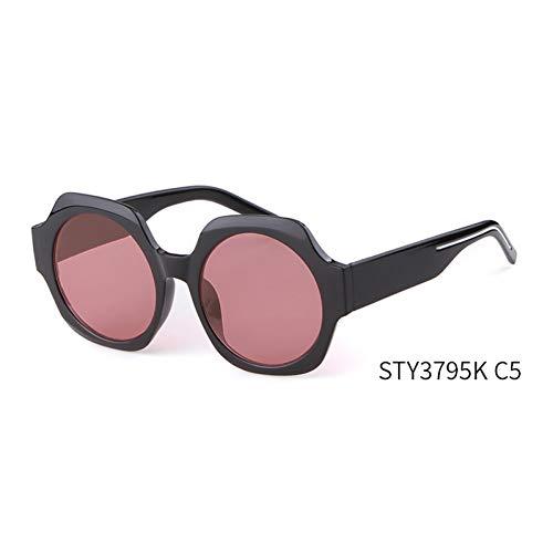 Taiyangcheng Übergroße runde Sonnenbrille Frauen männer Big Frame oval Shades weiblich schwarz Leopard Eyewear,C5