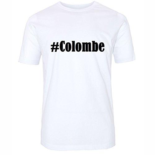 T-Shirt #Colombe Hashtag Raute für Damen Herren und Kinder ... in den Farben Schwarz und Weiss Weiß