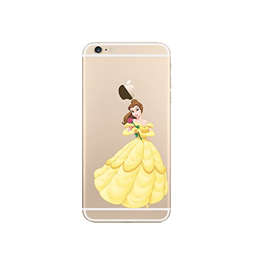 New Disney Prinzessinnen transparent TPU Soft Case für Apple iPhone 4/4S 5/5S 5 C 6/6S & 6 + 6 + S * Check Sonderangebot * BELLE