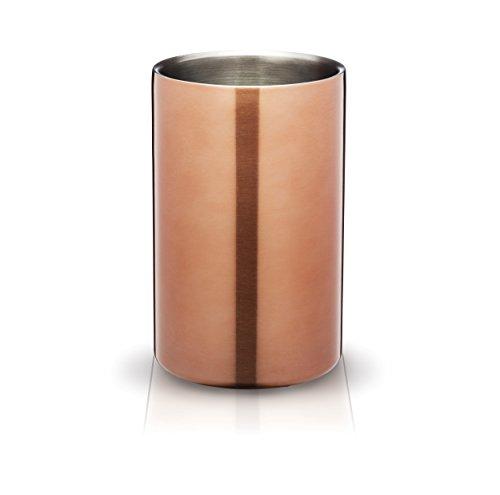 Bar Craft Weinkühler Luxe Lounge doppelwandig in Kupfer, Mischung aus Mehreren Materialien, Gold, 12 x 17 x 22 cm