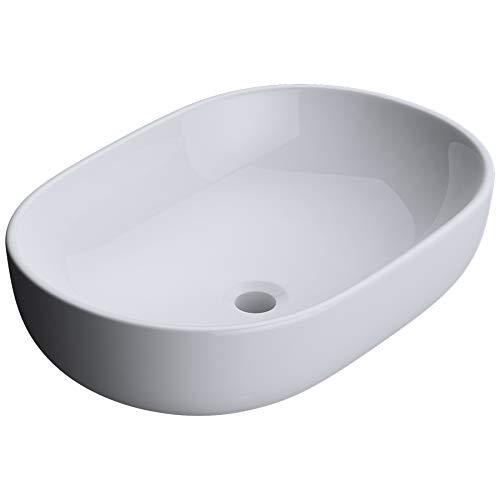 Lavabo vasque a poser evier design Bruxelles 322 larg x prof x haut 60 x 42 x 14cm