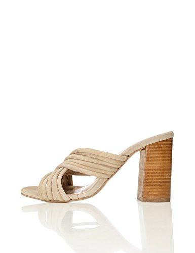 Find awa001circle3w306170215, sandali a punta aperta donna, marrone (beige), 39 eu