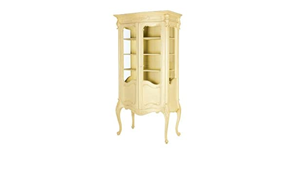 Maine Chateau Bombe Display Cabinet French Shabby Chic Amazon Co