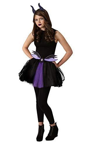 Rubie's Offizielles Disney Maleficent Zubehör-Set mit Flügeln und Tutu, Tween Größe ab 12 Jahren