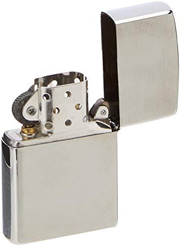 Zippo Benzin Feuerzeug Chrom Standard gebürstet Regular Sturmfeuerzeug