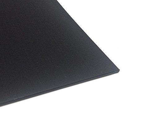 Kunststoffplatte ABS 2mm Schwarz 300 x 200 mm