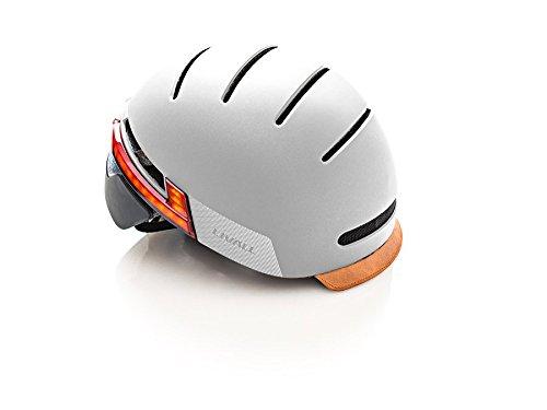 Livall Fahrradhelm BH51T mit Rücklicht, Blinker und SOS-System (grau) - 5