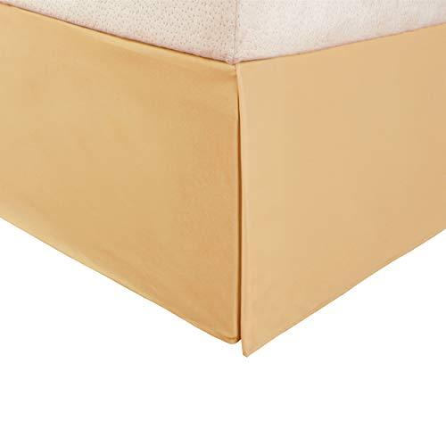 Superior Vanessa Collection 1500 Serie Faltenrock aus 100% Mikrofaser Modern Twin XL Gold -
