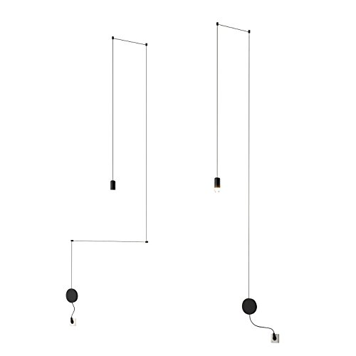 Wireflow FreeForm 0347 LED - Lampe de suspension noir/laqué/H x W: 257 x 50cm/dimmable/109 lm - 2700 K