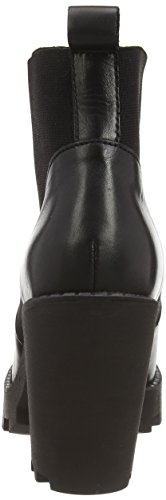 PIECES - Psuzza Leather Boot Chelsea Black Noos, Stivali Donna Nero (Nero (nero))