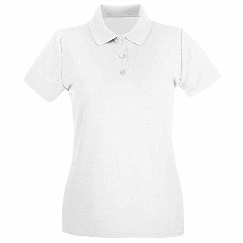 Uneek Clothing - Polo da donna, colore: verde bottiglia Bianco