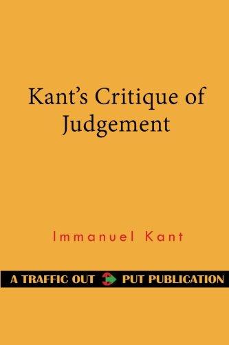 Kant's Critique of Judgement por Immanuel Kant