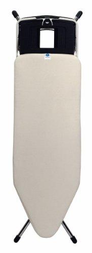 Brabantia 315640 Bügeltisch 124 x 45 cm Versenkbare Dampfstationsablage, ivory