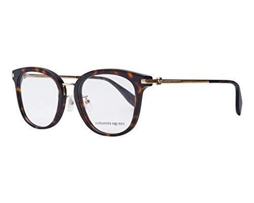 Alexander McQueen Brille (AM-0176-O 003) Acetate Kunststoff - Metall dunkel havana - gold - Alexander Mcqueen-brille
