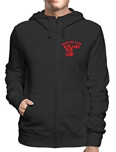 Sweatshirt Hoodie Zip Schwarz FUN1679 Guys Guy Zip Hoodie