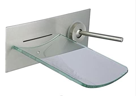 YLSZ-bathroom taps/Bathroom Sink Taps Black ancient copper glass waterfall into