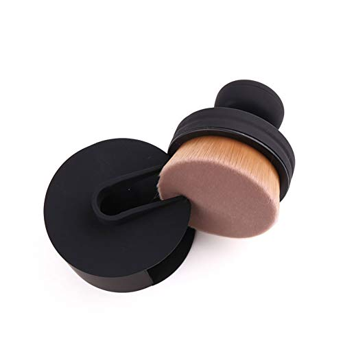 Beito 1 stück Runde Dichtung Make-up Pinsel Kurzen Griff Flaches Gesicht Foundation Concealer...
