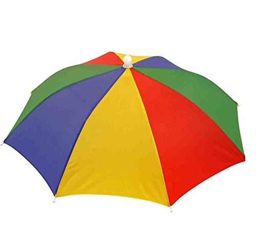 Golfer Kostüm Für Erwachsenen - Toyland Regenschirm-Hut-Multi farbiges - Kostüm-Zusatz - Fischen-Hut - Golf-Hut - Sonnenhut - für Kinder u. Erwachsene