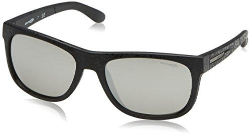 Arnette Herren 23666g Sonnenbrille, Schwarz (Black Drops/Mirrorsilver), 56