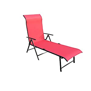 """""""Amaze"""" Folding Compact Outdoor Indoor Swimming Pool Farm house Garden Sun bed Beach Lounger Chair Deck chair - Metal - (3 Fold)- 4 COLOUR OPTIONS"""