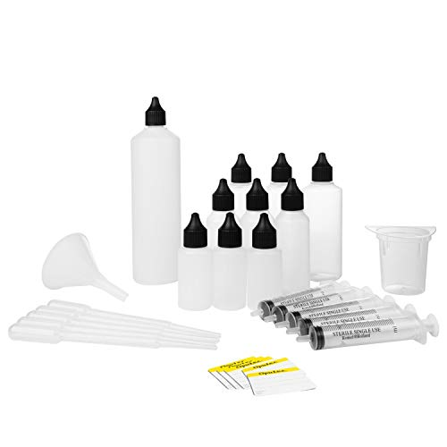 Oputec Liquid Misch Set XL 42 TLG.: 30ml, 50ml, 100ml, 250ml, Messbecher, Spritze, Pipette, Etiketten -