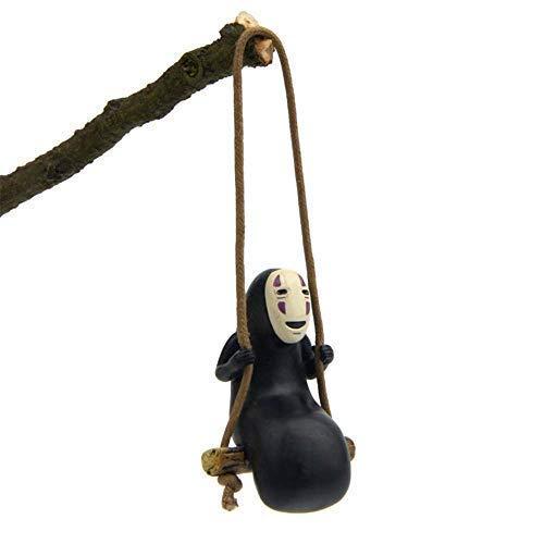 Paul Bec Dekofigur Spirited Away No Face Man, Schaukelfigur, Anime-Spielzeug, Heimdekoration, Mikro-Landschaftsdekoration, Ornamente aus Kunstharz