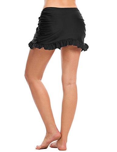 6fd3a9be1ed58a Avidlove Strand Rock mit Integrierter Hose Damen Bikinihosen Niedrige Taille  Rüschen Kombinierbar Bikini Rock Mini Bottom ...