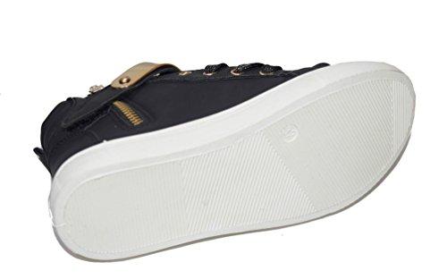 BTS 29150 Mädchen Sneaker mit weißen Sohle in Black Gr.: 24-35 Black