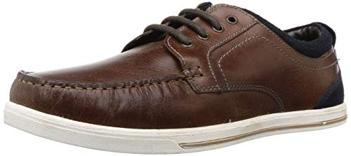 Red Tape Men's Tan Leather Boat Shoes-8 UK/India (42 EU) (RTE0853)