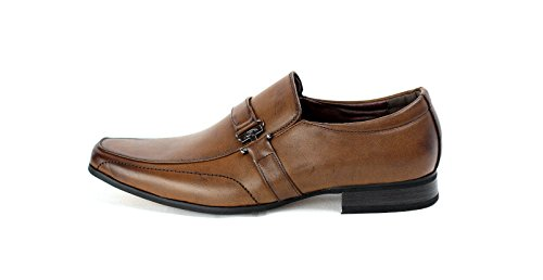 Herren Formelle Schuhe Italian Smart Office Ohne Bügel Party Style Kaffee