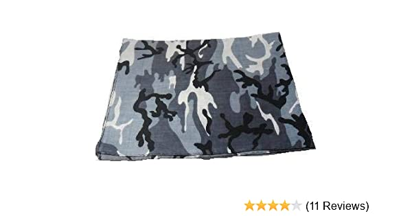 Blue Camouflage Bandana Head Neck Scarf 100/% Cotton