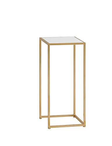 Stand De Fleurs Simple Moderne Ménage Multifonctionnel Table D'appoint Carrée Support De Pot De Fleur D'or (taille : 34 * 34 * 75cm)