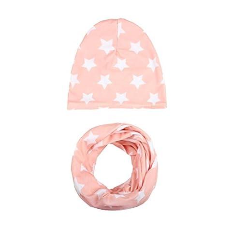 Babybekleidung Schals Longra Baby Mütze Schal jungen Mädchen Kleinkinder Schal Kind Schal Hüte Mützen(53~56cm,3-5Jahre ) (Kleinkind-jungen Set)