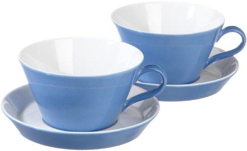 Arzberg Form Tric 2er Set Cafè-au-lait-Tassen 0,35Ltr. blau Au Lait-set