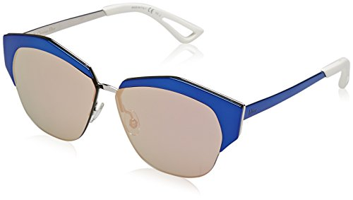 Christian dior diormirrored 0j i22, occhiali da sole donna, nero (blackbluee pld/grey rose gd sparkling), 55