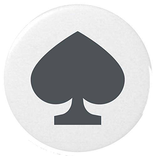 schwarze Spaten Anzug Emoji 25 mm Anstecker / Black Spade Suit Emoji 25mm Button Badge