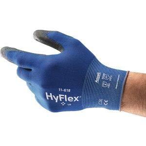 Handschuhe HyFlex 11-618 Gr.8 blau/schwarz Nyl.m.Polyurethan EN 388 Kat.II