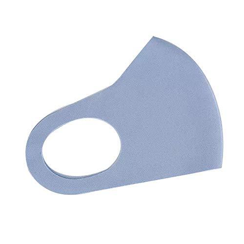 Baumwolle Nette PM2.5 Waschbar Mundmaske Anti Haze Staubmaske Nasenfilter Winddicht Gesicht Muffel Bakterien Grippe Stoff Tuch Atemschutzmaske (Color : Blue, Size : One size) -