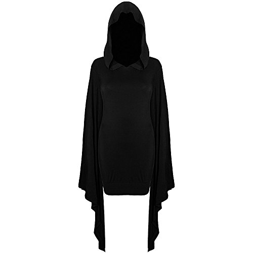 Killstar Sorcery Hexen Mini Kleid Long Shirt Occult - Girlie Schwarz Schwarz
