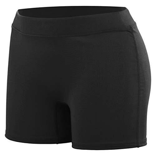 Augusta Sportswear begeistern Volleyball Shorts, Damen, schwarz, Medium - Womens Low Rise Compression Short