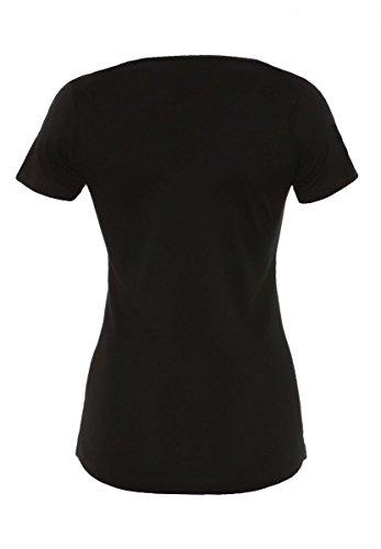 DAILY'S ALLY Damen basic T-Shirt mit V-Ausschnitt aus 100% Bio-Baumwolle - soziale fair trade Kleidung, Mode vegan und nachhaltig Color black, Size S - 2
