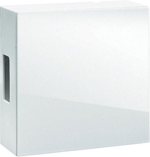 Grothe Zweiklang Gong - Klangplatten aus Glockenstahl hochglänzende Oberfläche - Transformer/ 9V Blockbatterie - (Weiß)