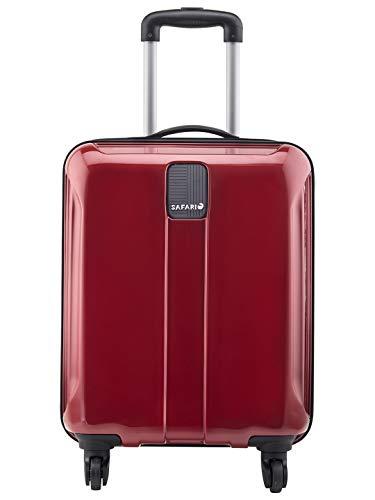 Safari Polycarbonate 55 cms New Red Hardsided Cabin Luggage (THORSHARPANTI554WNRE)
