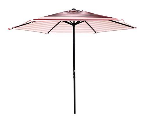 HERMO 96s Roun 9 Ft Outdoor Patio Market Table Umbrella, red - 9' Market Umbrella Base