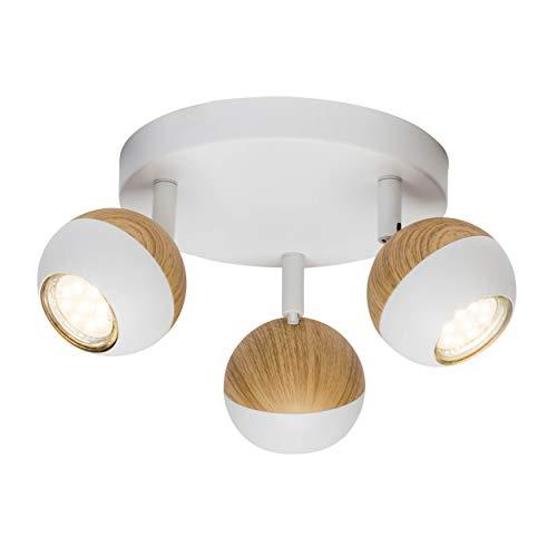 Lámpara de techo LED, 3 focos, 3 bombillas reflectoras LED de 3...