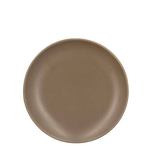 TheKitchenette - ALFA - Lot de 4 assiettes à DESSERT en faïence - taupe - 20 cm