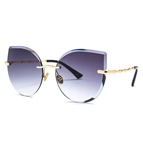 AAMOUSE Mode cat Eye Sonnenbrille Frauen deisgner Cutout dye Farbverlauf die neuen Trend Damenoculos uv400