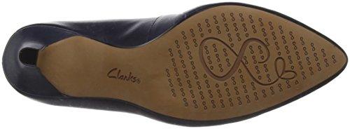 Clarks isidora Faye, Scarpe con Tacco Donna Blu (Navy Leather)