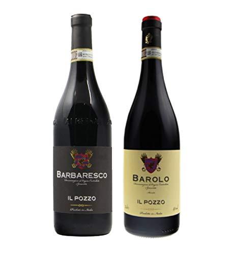 BARBARESCO DOCG, Vino BARBARESCO DOCG, BARBARESCO Vino Rosso, BAROLO IL POZZO, BARBARESCO e BAROLO, 2 Bottiglie BARBARESCO e BAROLO IL POZZO